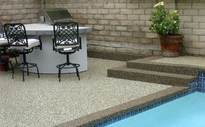 PebbleBond, pool deck