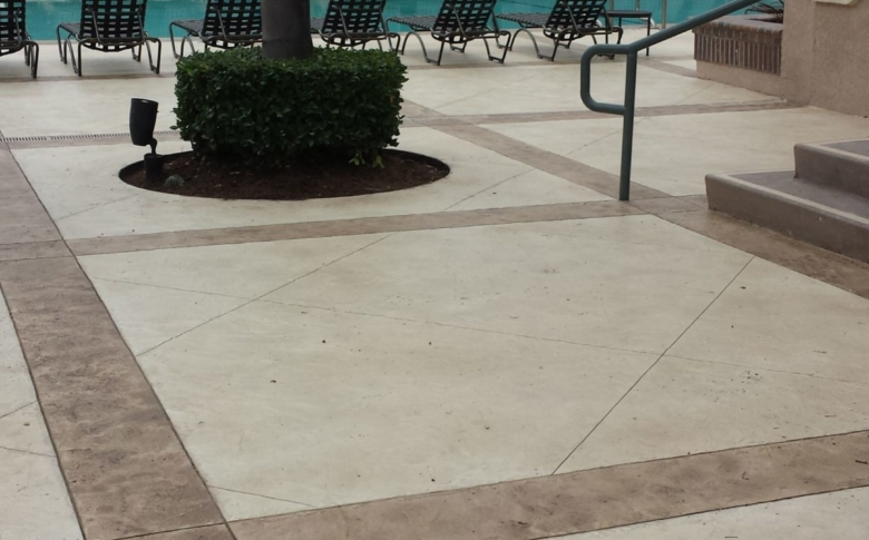 Housing Complex Pool Deck with Life Deck 20 Series Overlay