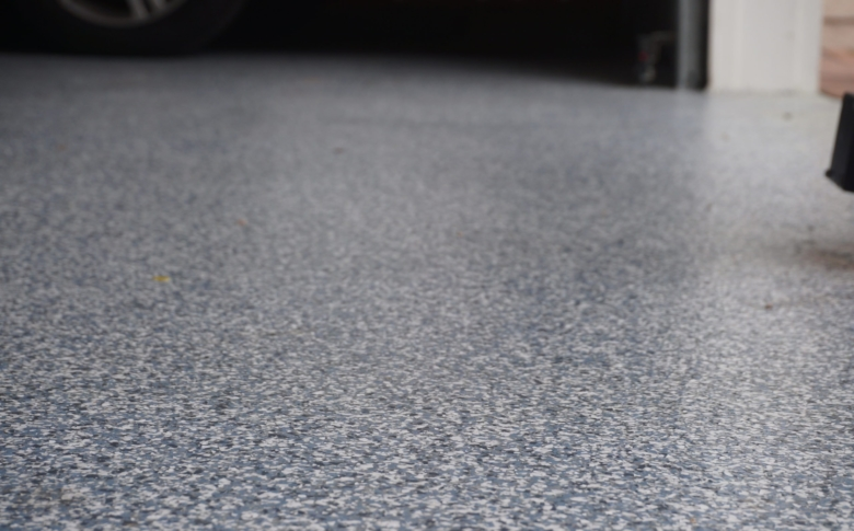 Closeup of Water based 100% Solid Epoxy Floor