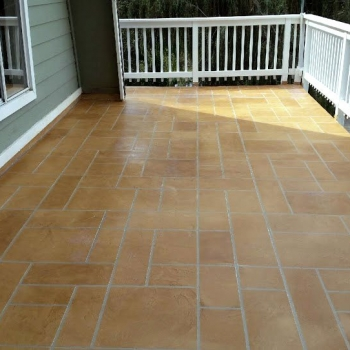 Life Deck Stamped Finish decorative concrete