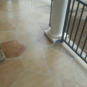 AL system, decorative overlay, 20 series stain, GPD sealer
