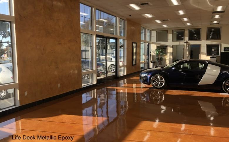 Life Deck Chemical Reistant Urethane Product on Automotive Dealership