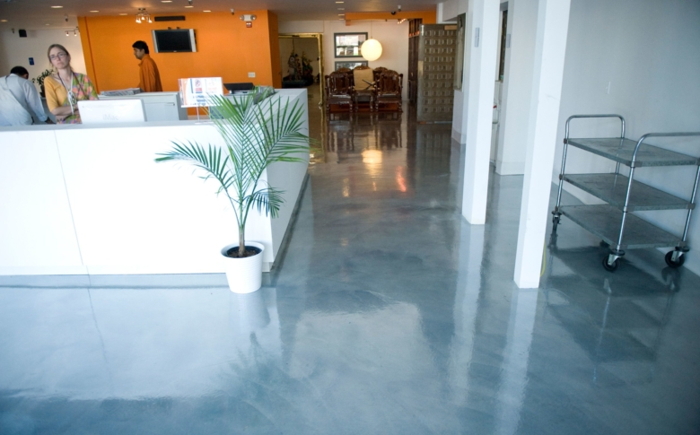 Metallic-Epoxy-Show-room-office-space