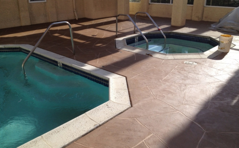 Life Deck Pool MC System Flagstone 20 Series Stain