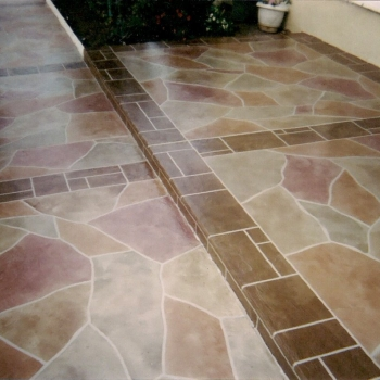 Home Driveway with Life Deck Specialty Coatings 20 Series Stain
