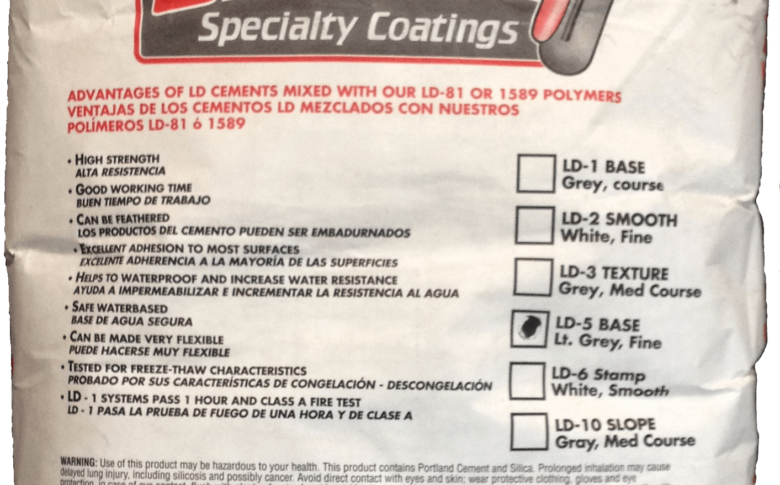 Life Deck Specialty Coatings. LD-1 Base | LD-2 Smooth | LD3 Texture | LD-5 Light Gray | LD-6 | LD-10 Slope Packaging