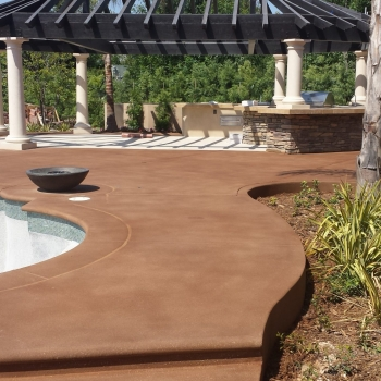 pool deck, 20 series stain, overlay, sealer