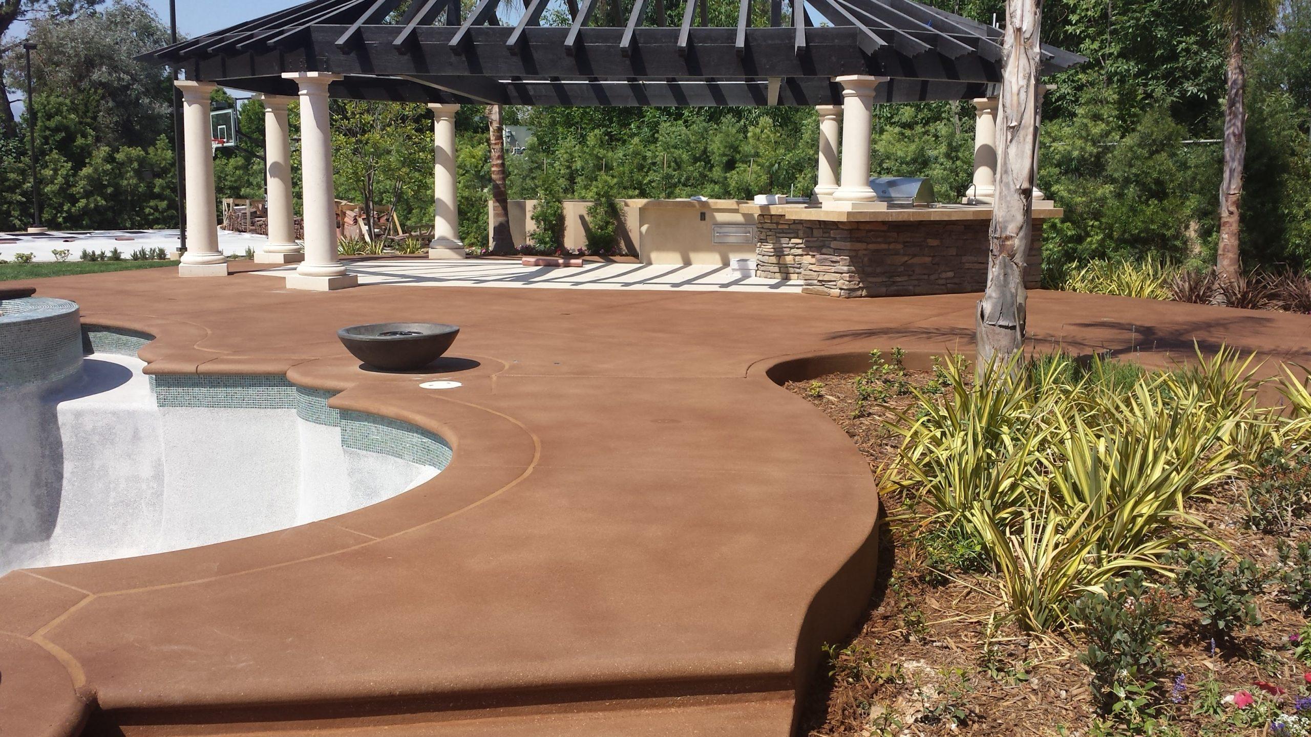 pool deck, 20 series stain, overlay, sealer