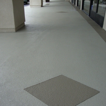 Commercial Shopping Center Textured Concrete Finish Knock Down