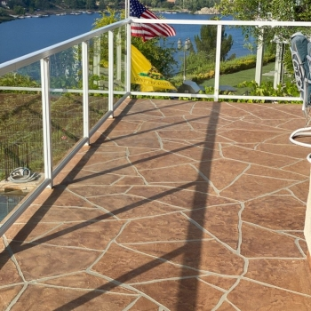 Life Deck AL System with Flagstone - Balcony Deck